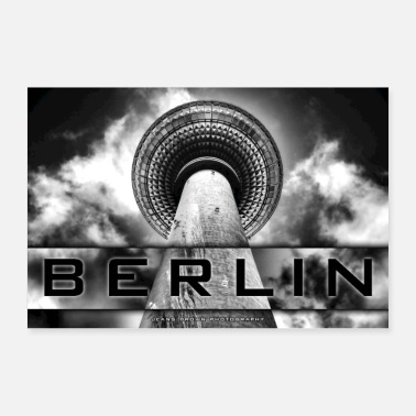 Tv Berlin TV Tower - Jeans Brown Photography - Poster 60x40 cm