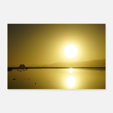 Road Trip beautiful sunset, gift idea - Poster 24 x 16 (60x40 cm)