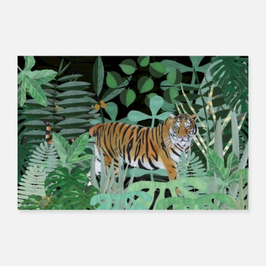 Design Lover Tiger in the jungle - Poster
