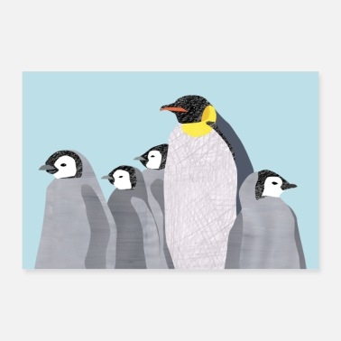 Group penguins - Poster 24 x 16 (60x40 cm)