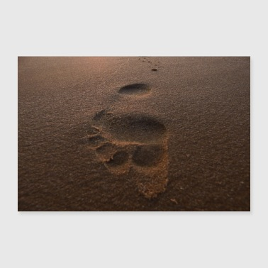 Tocawi Elbe beach footprint - Poster 24 x 16 (60x40 cm)