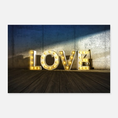 Light Lights of Love - Poster 24 x 16 (60x40 cm)