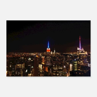 Nyc Nuit de New York - Poster 60 x 40 cm