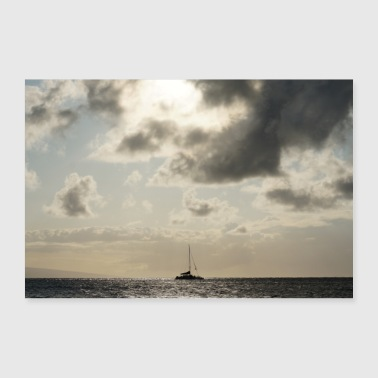 Hawaii sailboat - Poster 24 x 16 (60x40 cm)