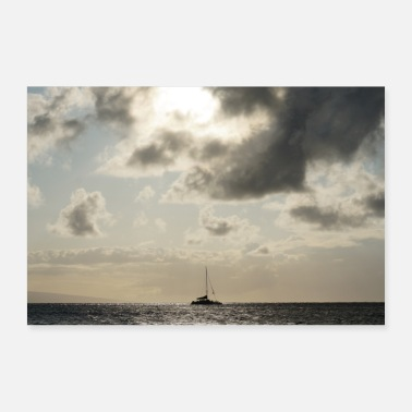 Hawaii Hawaii sailboat - Poster 24 x 16 (60x40 cm)