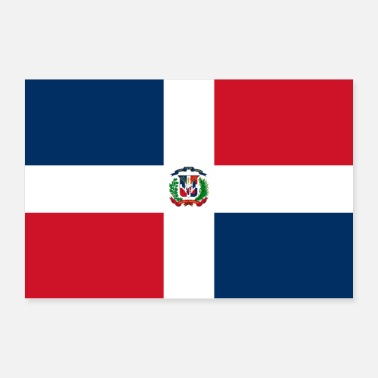 Band Dominican Republic flag - Poster 24 x 16 (60x40 cm)