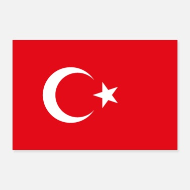Turkey Turkey flag - Poster