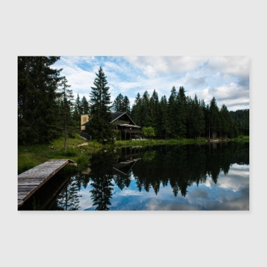 Small lake in Veneto, South Tyrol, Italy - Poster 24 x 16 (60x40 cm)
