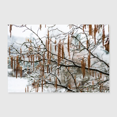 Snowflake Snowy tree branches - Poster 24 x 16 (60x40 cm)