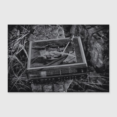 Lost Place - turntable - Poster 24 x 16 (60x40 cm)