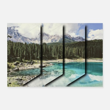 Lake Lake in the mountains - Poster 24 x 16 (60x40 cm)