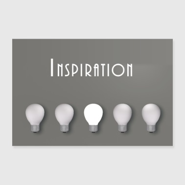 Inspiration inspiration - Poster 60x40 cm