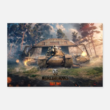 Online World of Tanks WoT missie win-back - Poster 60x40 cm