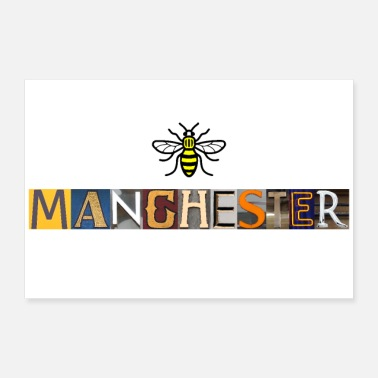 Lethed Manchester Letters - Poster