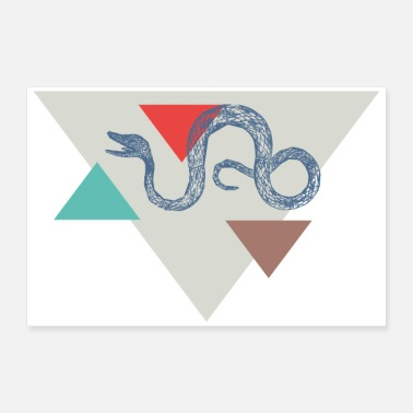 Gang Snake triangle ontwerp - Poster 60x40 cm