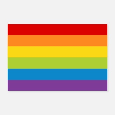 Parade Poster rainbow flag flag LGBT colorful rainbow - Poster 24 x 16 (60x40 cm)