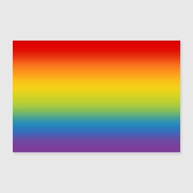 Parade Poster rainbow flag flag LGBT gradient - Poster 24 x 16 (60x40 cm)