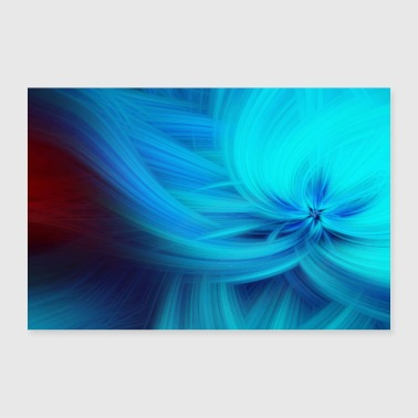 Abstract Abstract Art Pattern Blossom - Poster 24 x 16 (60x40 cm)