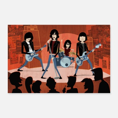Rock N Roll Groupe de bande dessinée Punk-Rock POSTER - Poster