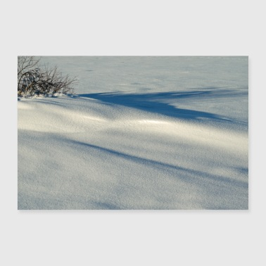 Powder snow in the sunlight. Poster - Poster 24 x 16 (60x40 cm)