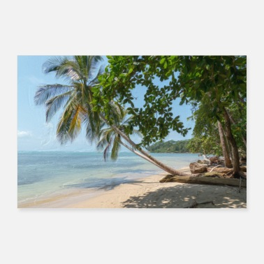 Caraibi Painting of Costa Rica - Poster 60x40 cm