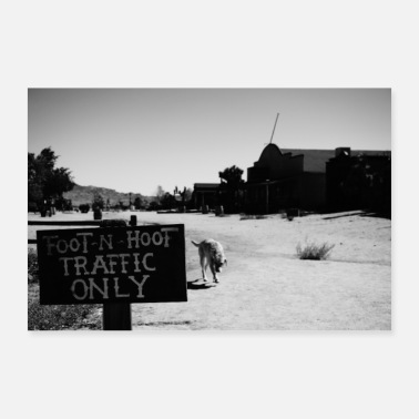 Kalifornien Foot n Hoof Traffic Only - Poster 60x40 cm