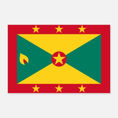 Band Grenada flag - Poster 24 x 16 (60x40 cm)