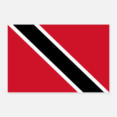 Band Trinidad and Tobago flag - Poster 24 x 16 (60x40 cm)