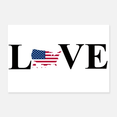 United I Love USA - Poster 60x40 cm