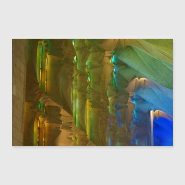 Church Sagrada Gaudi colors - Poster 24 x 16 (60x40 cm)