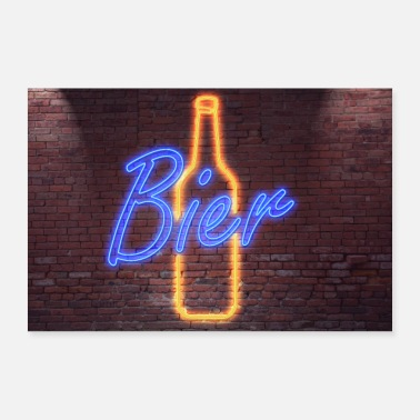 Neon Neon neon sign lettering - Poster
