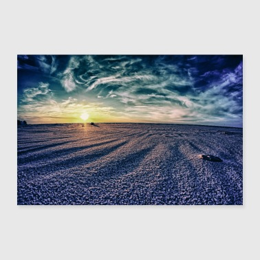 Sand sky and sand - Poster 24 x 16 (60x40 cm)