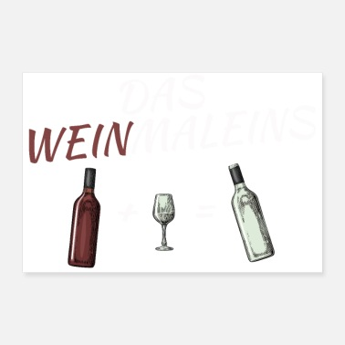 Wine THE WINE DISTRICT (word game multiplayer with wine) - Poster 24 x 16 (60x40 cm)