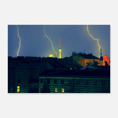Tv TV tower lightning - Poster 24 x 16 (60x40 cm)