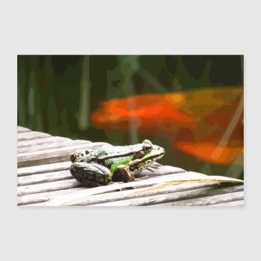 Frog Frog at the pond - Poster 24 x 16 (60x40 cm)