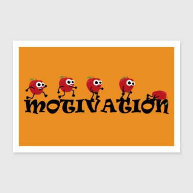 Motivation Apple Sport - Poster 60 x 40 cm