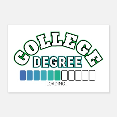 College Student College Degree High School graduering status gave ide - Poster