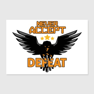 Militär Army military Eagle Stars Never Accept Defeat - Poster 60x40 cm