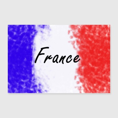 Country France - World Champion - Sport - Country - Gift - Poster 24 x 16 (60x40 cm)