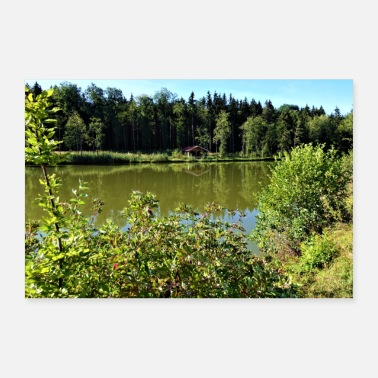 Small Lake with a small house - Poster 24 x 16 (60x40 cm)