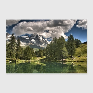 Matterhorn from the south - Poster 24 x 16 (60x40 cm)