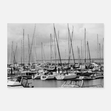 Baltic Sea Harbor of the sailors - Poster 24 x 16 (60x40 cm)