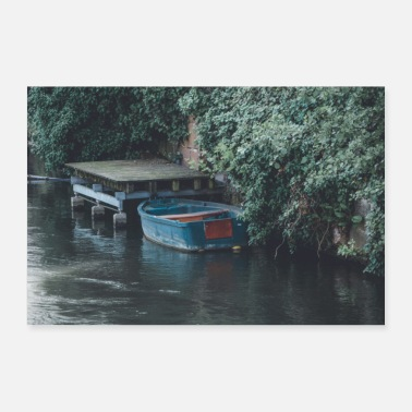 Boat rowing boat - Poster 24 x 16 (60x40 cm)
