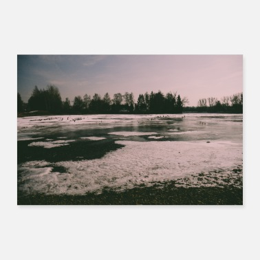 Sea Lion Lake in the winter - Poster 24 x 16 (60x40 cm)