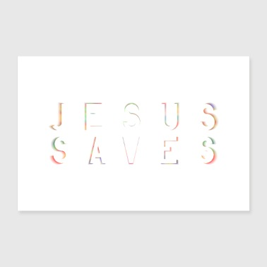 Bible Jesus Saves poster mural - Poster 24 x 16 (60x40 cm)