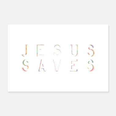 Save Jesus Saves poster mural - Poster 24 x 16 (60x40 cm)