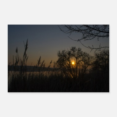 Lake Sunset at the lake - Poster 24 x 16 (60x40 cm)