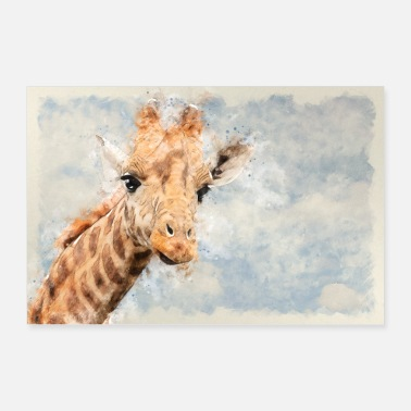 Drawing Giraffes drawing - Poster 24 x 16 (60x40 cm)