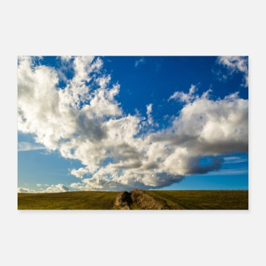 Nuage nuages Panorama - Poster 60 x 40 cm