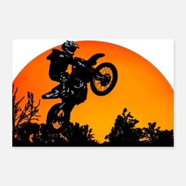 Motorcycle Sunset - Poster 24 x 16 (60x40 cm)